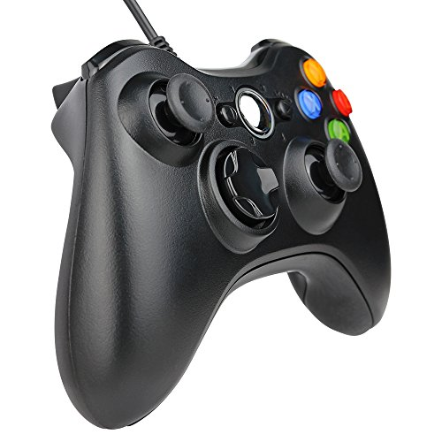 Kycola Xbox 360 Wired Controller SL11 Wired PC controller USB Gamepad For Xbox 360/PC(Black)