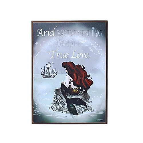 Silver Buffalo DP112313 Ariel Dreams Quote Mini Wood Wall Art, 7.5