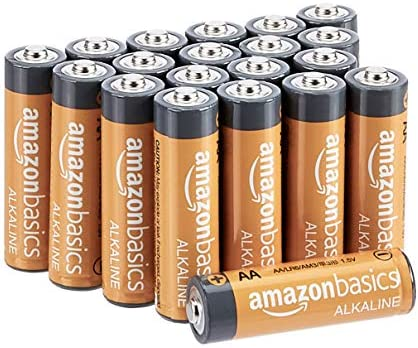 AmazonFundamentals 20 Pack AA High-Performance Alkaline Batteries, 10-Year Shelf Life, Easy to Open Value Pack