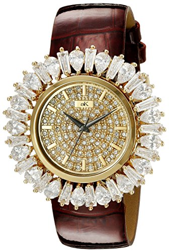 Adee Kaye Women's AK2421-LG FIERCE COLLECTION Analog Display Analog Quartz Gold Watch
