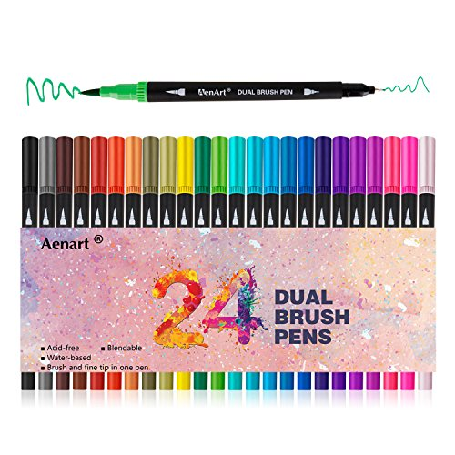 Dual Tip Art Marker Pens Fine Point