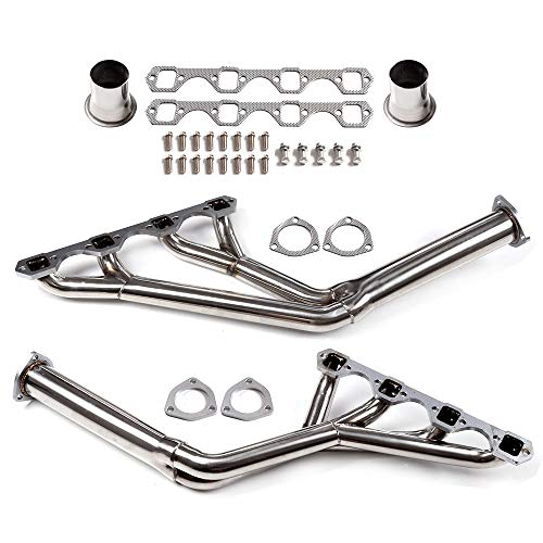 ECCPP Exhaust System SDD-HDSFM64TY Replacement Exhaust Manifolds Fit for 64-70 Mustang 260 289 302 TRI-Y Stainless Header