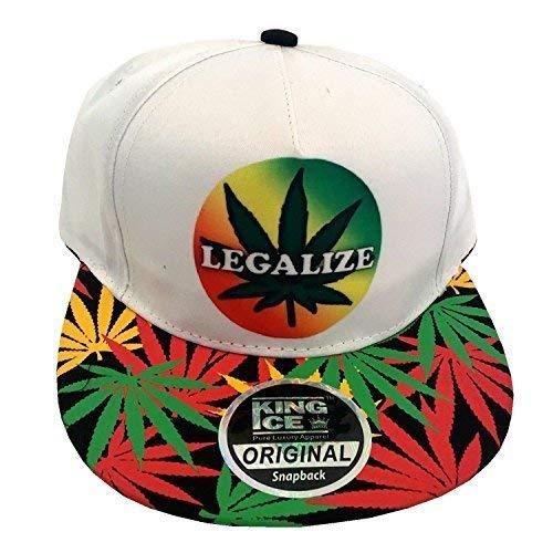 Ice con marihuana visera de White plantas de con diseño King de Gorra Legalize plana unisex BgaFq