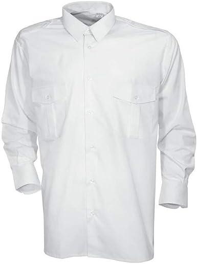 City Guard Cityguard - Camisa de piloto, Color Blanco: Amazon.es: Ropa y accesorios