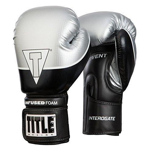 TITLE Infused Foam Interrogate Training Gloves, Black/Silver, 20 oz