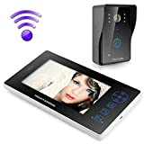"MOUNTAINONE 2.4G 7"" TFT Wireless Video Door Phone Intercom Doorbell Home Security Camera Monitor SY8501A12"