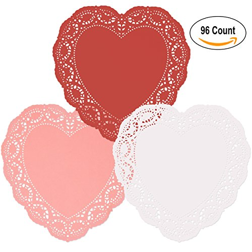 Red Heart Plates (96 Count Heart Doilies 10