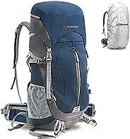 ZOMAKE 50L Internal Frame Hiking Backpacks Waterproof Backpacking Camping Backpack for Women Men with Rain Cov