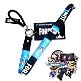 Game ID Card Holder with Lanyard, Key Ring, Key Chain - Game Party Supplies Silicone ID Badge Holder for School ID, Bus ID, Credit Card (Style1)