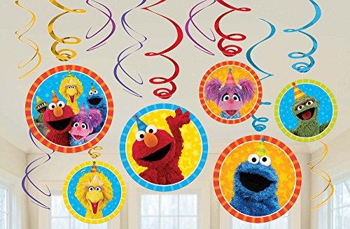 Sesame Street Hanging Swirls (12 ct) -