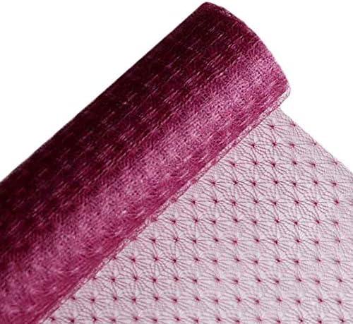 シュッコンカスミソウメッシュ花の包装紙のギフトは花ラップ用品包装します、ダークパープル