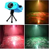 LED Party Lights Disco Lights Night Light Wonsung 9W Soothing Ocean Wave Projector Night Light 7 Colors Water Wave LED Ceiling Projector for Children for Party DJ event club Karaoke Wedding Christmas Outdoor And More(With Remote)