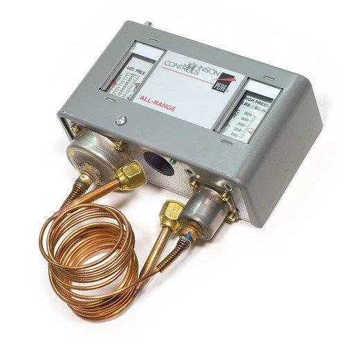 Johnson Controls P70AB-2C All-Range Control for Non-Corrosive Refrigerants, Single-Pole, Single-Throw, Open Low, 100 psi Maximum Working Pressure, 36