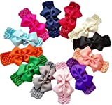 Best QandSweet Clothing For Boys - Qandsweet Baby Girl's Elastic Headbands Hair Bows Flower Review