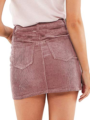 Buy high waisted corduroy skirt