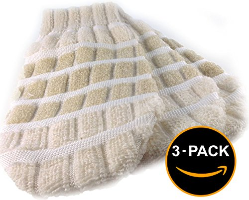 Bath Mitt Set of 3 for Body & Face | Natural Cotton Fibers for Gently Exfoliating Skin | Regenerate Smooth Clean Skin Improve Circulation (Glove Stretch Dive)