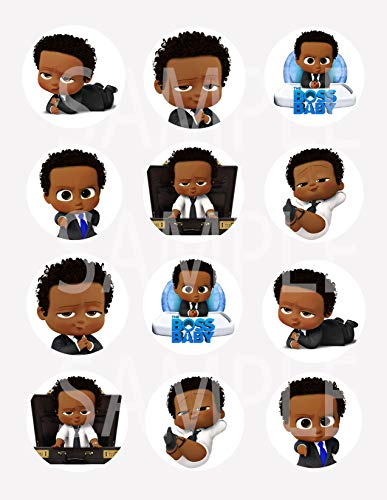 Black Boss Baby Stickers, Large 2.5