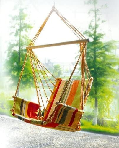 Styled Shopping Deluxe Colorful Hanging Hammock Swing Chair