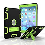 iPad Air 2 Case - iPad Pro 9.7 2016 Case - Fisel Three Layer PC & Silicon High Impact Hybrid Drop Proof Armor Full Body Protective Case With Kickstand for iPad Pro 9.7 Inch 2016 iPad Air 2 (iPad 6)