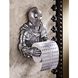 Toilet Paper Holder - Medieval Knight to Remember Gothic Bathroom Decor - Toilet Paper Roll - Bathroom Wall Decor
