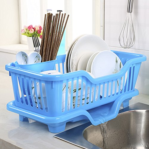 XHHOME Environmental PP Plastic Kitchen Sink Dish Drainer Se