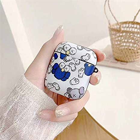 PET Material IMD Technology Protective Cover Case Compatible for Airpods 1/&2 LKDEPO Airpods Case Cover and Skin Cute Cartoon Graffiti Skin Designed for Kids Girl and Boys