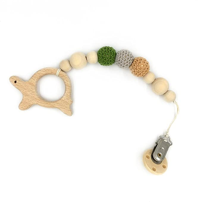 coskiss Tetina Del Clip De Madera De Animales Teether Eco ...