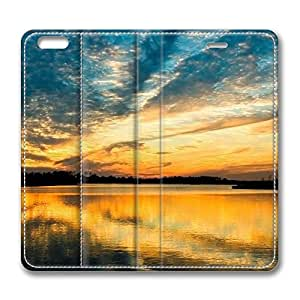 Beautiful Riverscape iPhone 6 Plus 5.5inch Leather Case, Personalized Protective Slim Fit Skin Cover For Iphone 6 Plus [Stand Feature] Flip Case Cover for New iPhone 6 Plus by mcsharks