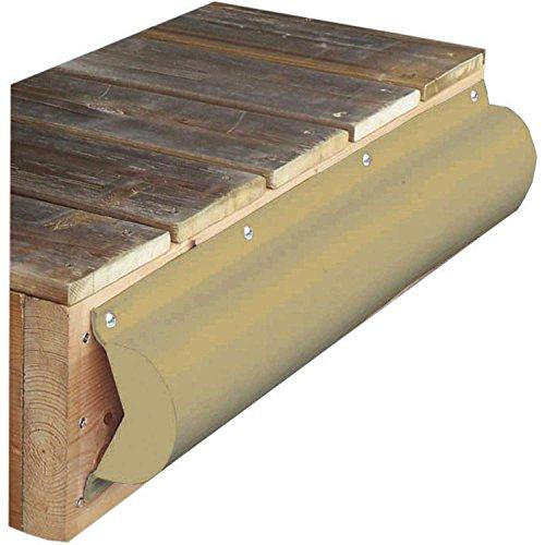 Dock Edge Premium PVC Profile Piling Bumper, Beige, 6'