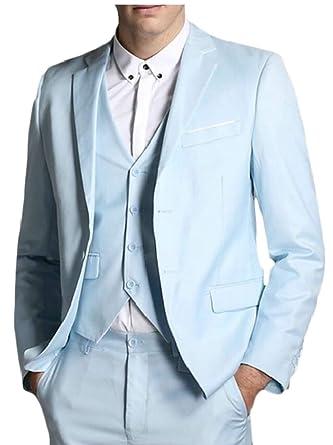 BingSai - Traje - para Hombre Azul Azul Claro XX-Small ...