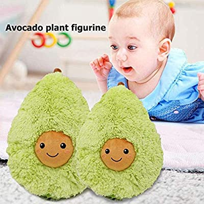 GFDQH Avocado Plush Toys, Cute Fruit Avocado Plushie Cushion Pillow, Novelty Food Shaped Soft Toy Pillow Party Supplies, for Bedding Home Decor Decoration Kid Gift (45cm): Toys & Games