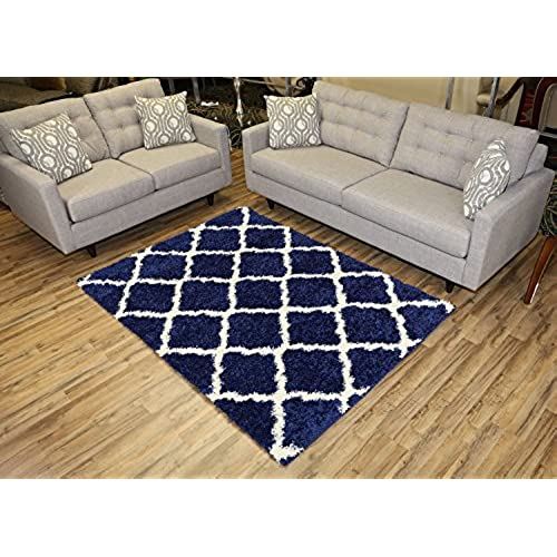 Navy and White Rugs Amazoncom