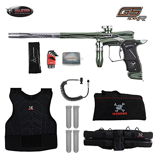(MAddog Dangerous Power G5 Spec-R Sergeant Paintball Gun Package - Celestial (Mint Green/Silver))