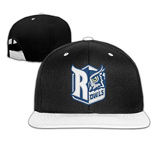 (University Rice Owls Adjustable Casual Hip-hop Baseball Cap White)