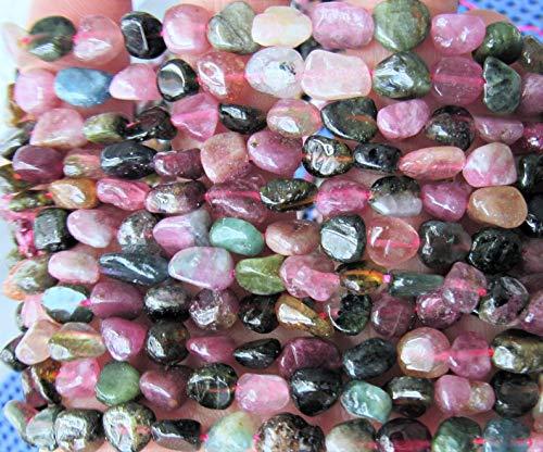 Design Ideas - Tourmaline Beads, Nugget Beads, Pebbles, Gemstone, Strand Pink, Chips, Beading, Necklace Beads, Bracelet, Turmaline, Multicolor, Stone, Real