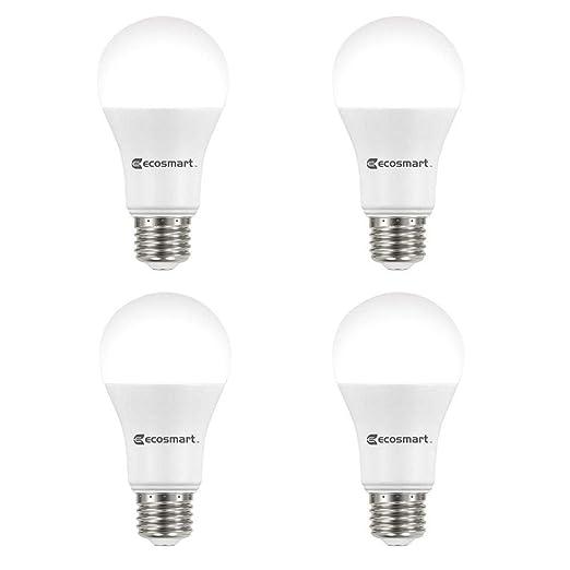 Amazon.com: EcoSmart A19 - Bombilla LED CEC no regulable ...