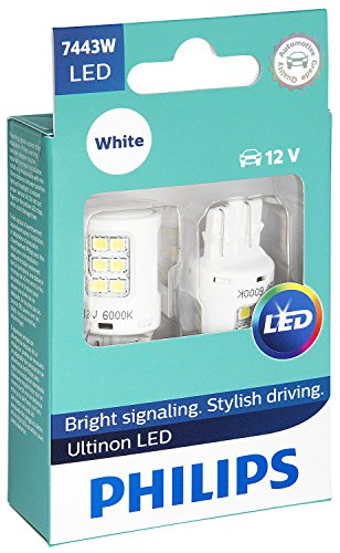 Philips 7443 Ultinon LED Bulb (White), 2 Pack