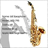 LADE WSS-795 bB Golden Brass Saxophone Hand-Caved Tube For Beginner