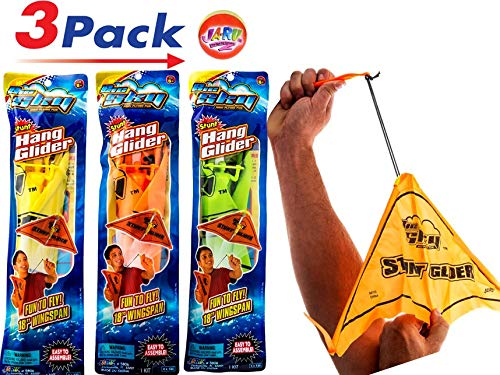 2GoodShop Hang Glider Flying Kids Toys Easy Launch Glider with Paraglider Included Pack of 3   Item #5806