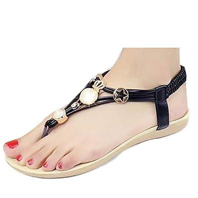 94af1d4d2d295d Donalworld bohemia beaded flat shoes beach sandals pearl slippers flip  flops black asian size jpg 395x395