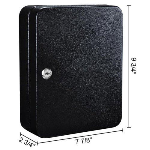 Black Durable Premium Powder Coated Portable 48 Slot Key Safe Box