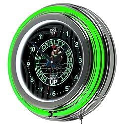 WWE John Cena Chrome Double Ring Neon Clock, 14