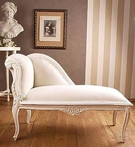 Palazzo Exclusive - Diván rococó gigante, color blanco envejecido
