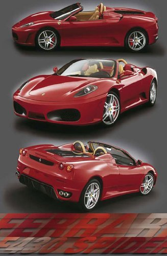HUGE LAMINATED / ENCAPSULATED Ferrari F-430 Spider Red Sports Car V POSTER measures 36 x 24 inches (91.5 x - 24 F430 Ferrari Spider