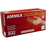 Ammex AAMV Anti-Microbial Vinyl Glove, Latex Free, Disposable, Powder Free