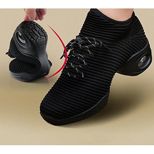 Respirable EU40 Tamaño Primavera Verano Zapatos y 2 Red Baile Suave Fondo black LIXIONG 5 Zapatos 5cm Estilos Altura tacón del Color UK6 4 Moda de de 250 2 2 AqxBgX