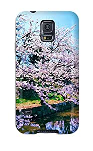Galaxy S5 Case Cover - Slim Fit Tpu Protector Shock Absorbent Case (cherry)