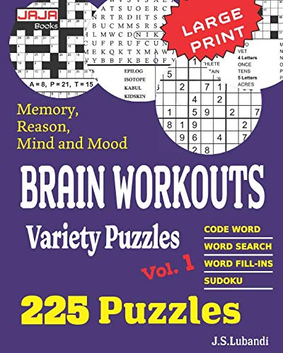 (Brain Workouts Variety Puzzles (225 Mixed Puzzles in Large Print for Effective Brain Exercise.))