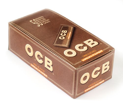 1 box OCB VIRGIN Regular size UNBLEACHED Rolling paper - total 2500 papers