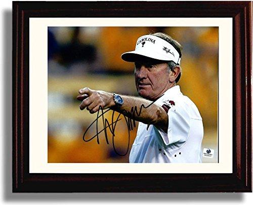 Framed USC South Carolina Gamecocks Coach Steve Spurrier Autograph Replica Print